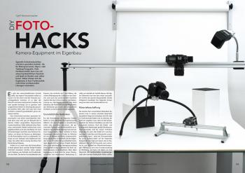 Outdoor-Stativ, Fototisch, Reproschiene und Makroführung: Autor Cyrill Harnischmacher erklärt, wie Sie nützliches Fotozubehör mit einfachen Mitteln selbst bauen.