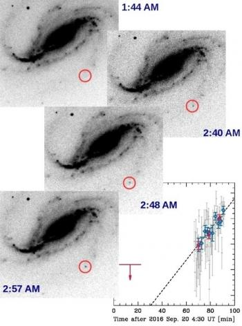 Die Supernova auf den Bildern von Buso