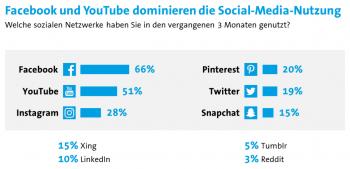 Facebook ist in Deutschland weiterhin die Nummer 1; Tumblr und Reddit bleiben in der Nische.