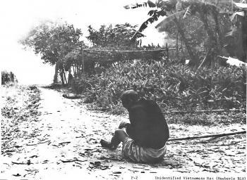 Ein Vietnamese während des Massakers von My Lai