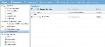 Gogle Docs mit Bookmarks aus Google Chrome