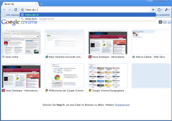 Screenshot von Chrome