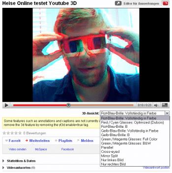 Heise testet YouTube 3D