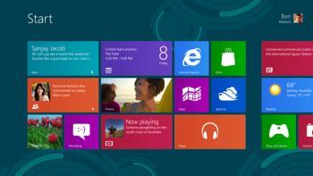 Der Startscreen von Windows 8 in der Release Preview