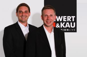 Produktmanager Timo Tübcke und Markus Limburg, Siewert & Kau
