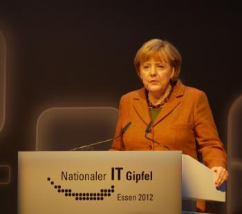 Angela Merkel auf dem IT-Gipfel 2012