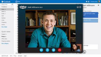 ...sondern auch Video-Telefonie mit Microsofts hauseigenem VoIP- und Messaging-Dioenst Skype.