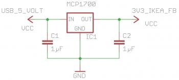 Tradfri: Schaltplan Spannungsversorgung für das ESP8266-Internet-Gateway
