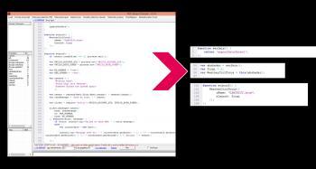 Ein Blick auf den formatierten JavaScript-Code im PDF Stream Dumper zeigt: Von 200 Zeilen Code werden lediglich 13 Zeilen ausgeführt.