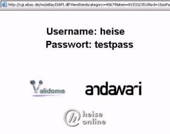 Username und Passwort
