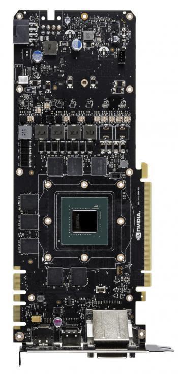Platine der Gamer-Grafikkarte GeForce GTX 1070