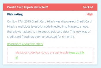 Der Online-Dienst MageReport spürt den Skimming-Code in infizierten Magento-Installationen auf und warnt vor weiteren Gefahren.