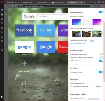 Der Opera-Browser lässt sich nun etwas einfacher einrichten.