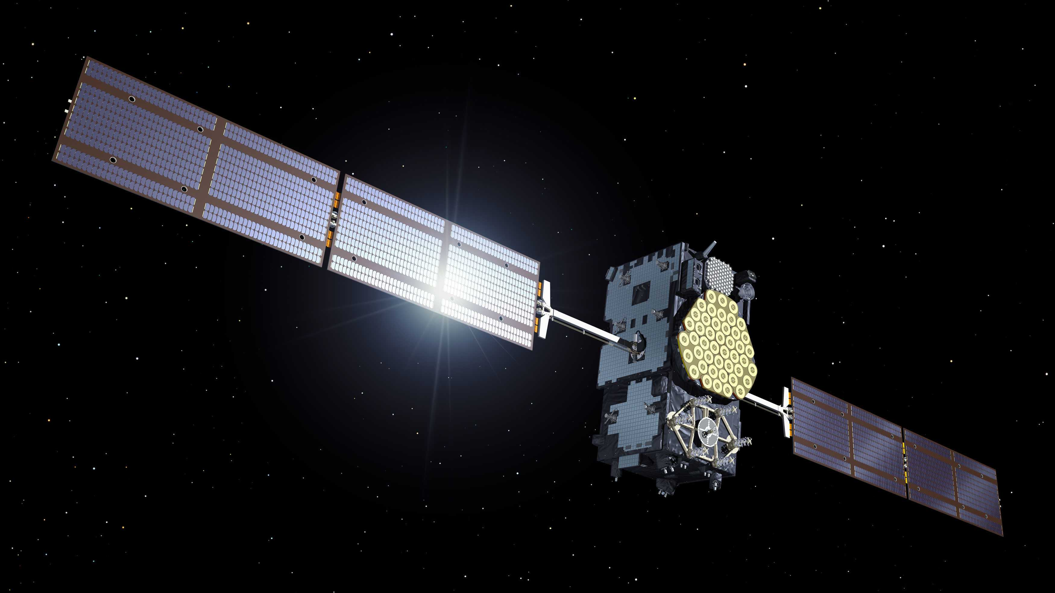 Galileo-Satellit im Orbit