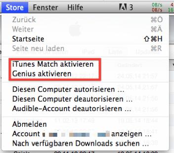iTunes Match: Hier wird der Dienst aktiviert.