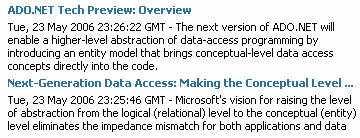 Tote Links zu ADO.NET 3.0 in Visual Studio 2005
