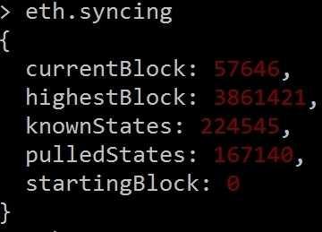 Block 57646 von 3861421 -- das Synchronisieren dauert noch etwas...