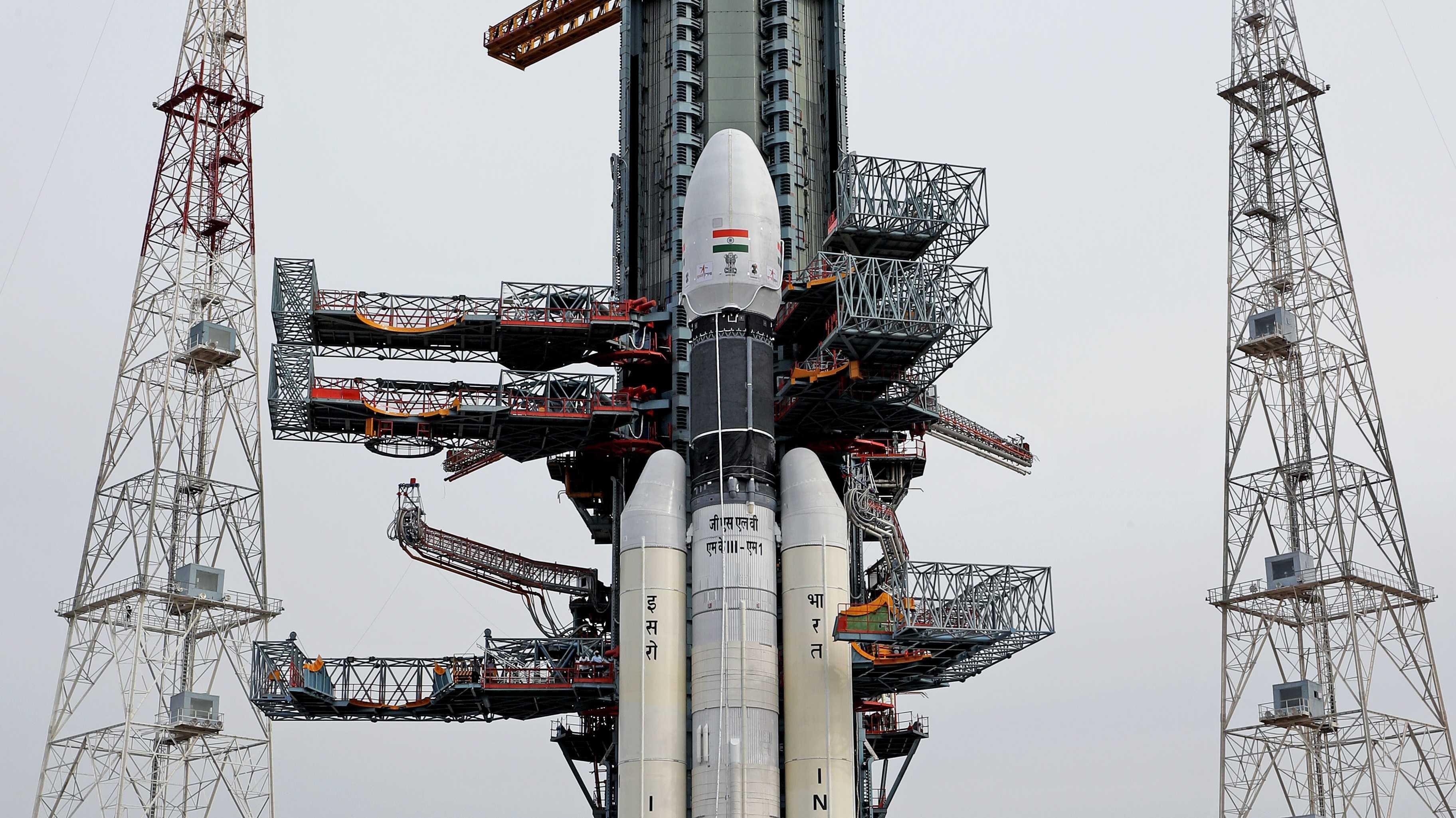 Chandrayaan-2: Indiens Mond-Mission kurz vor Start abgebrochen
