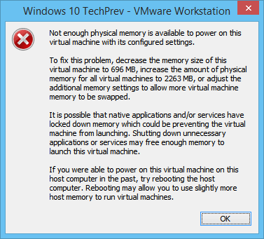 Screenshot VMWare Workstation 10