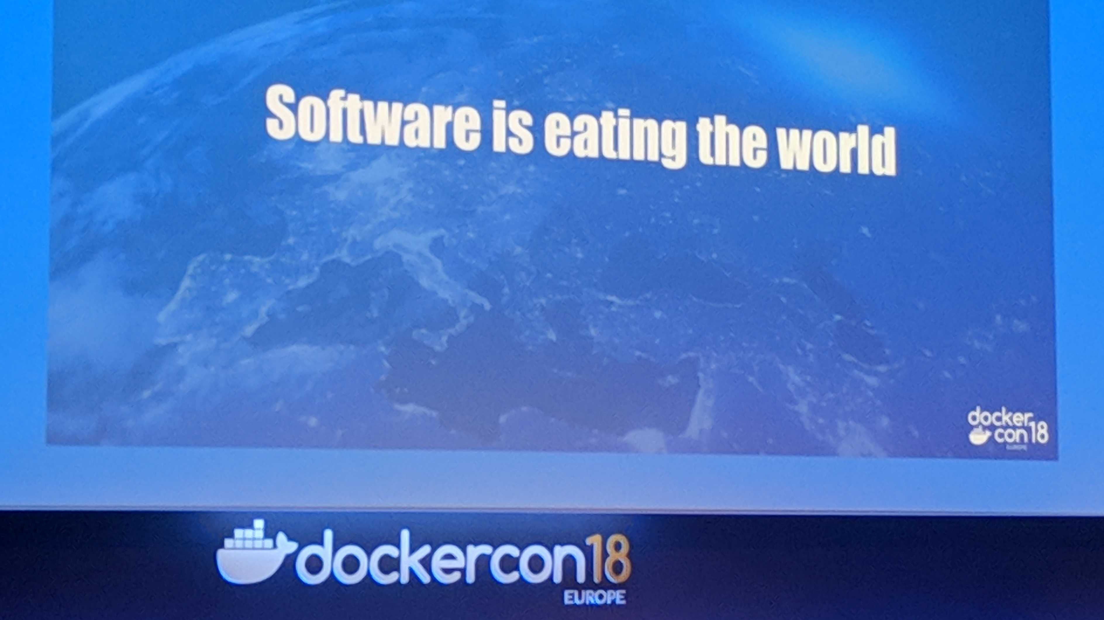 Software is eating the world bei der DockerCon EU