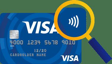 """Karten mit dem """"Kontaktloslossymbol"""" unterstützen die Zahlung via NFC."""