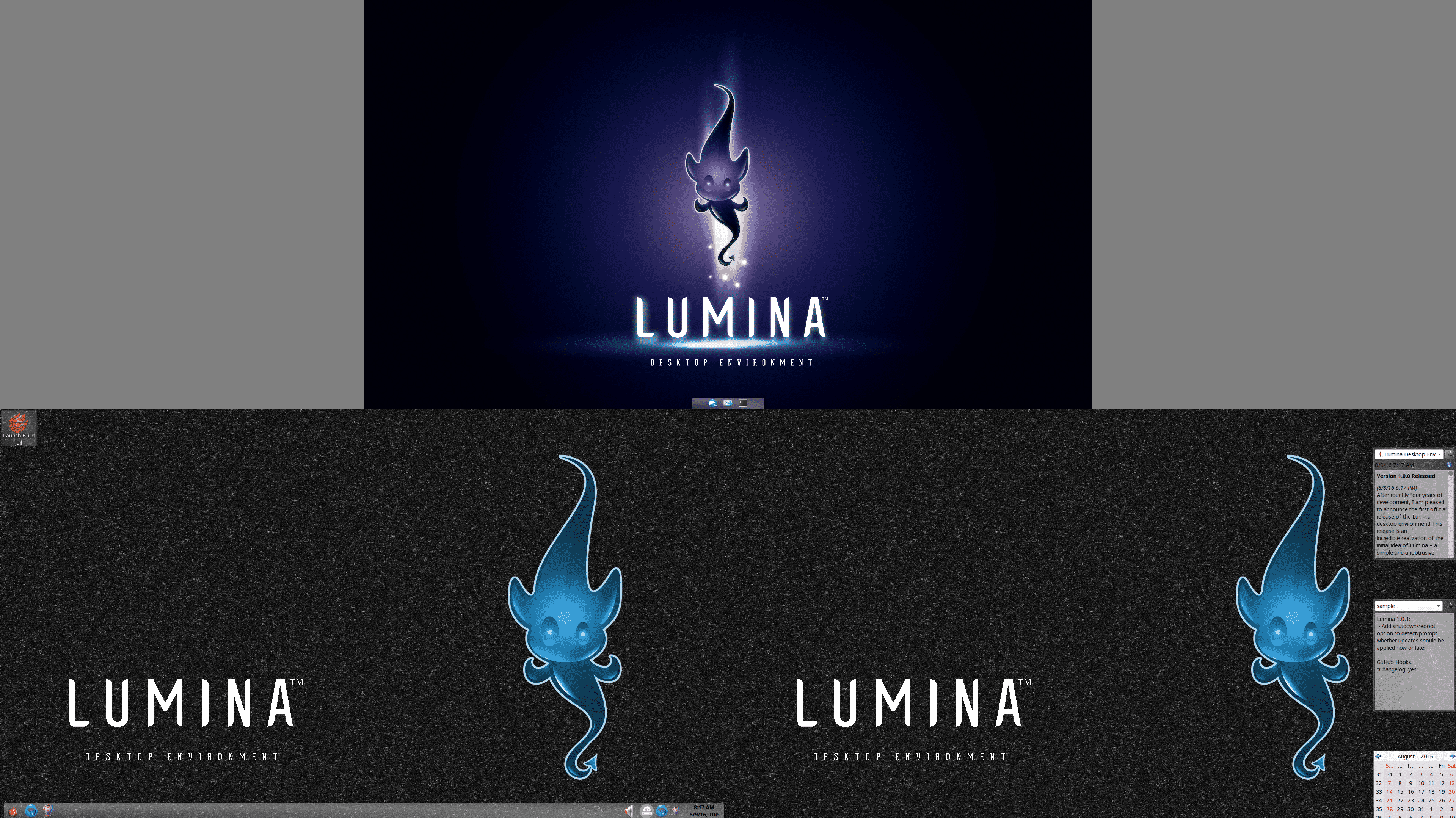 Desktop für BSDs und Linux: Lumina 1.0.0 freigegeben