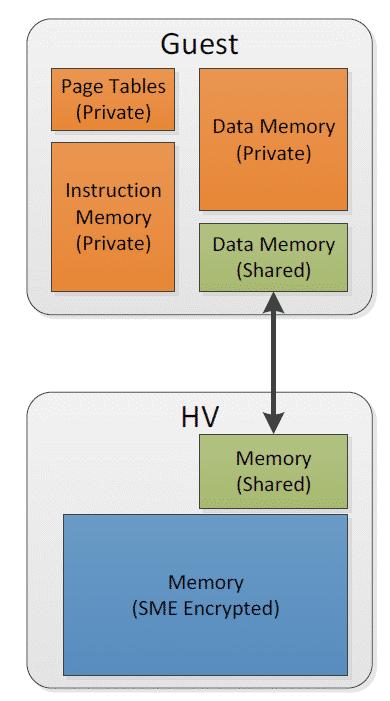 AMD SEV Shared Memory