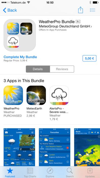 Das Vervollständigen eines Bundles ist unter Umständen teurer als der Einzelkauf der verbliebenen Apps