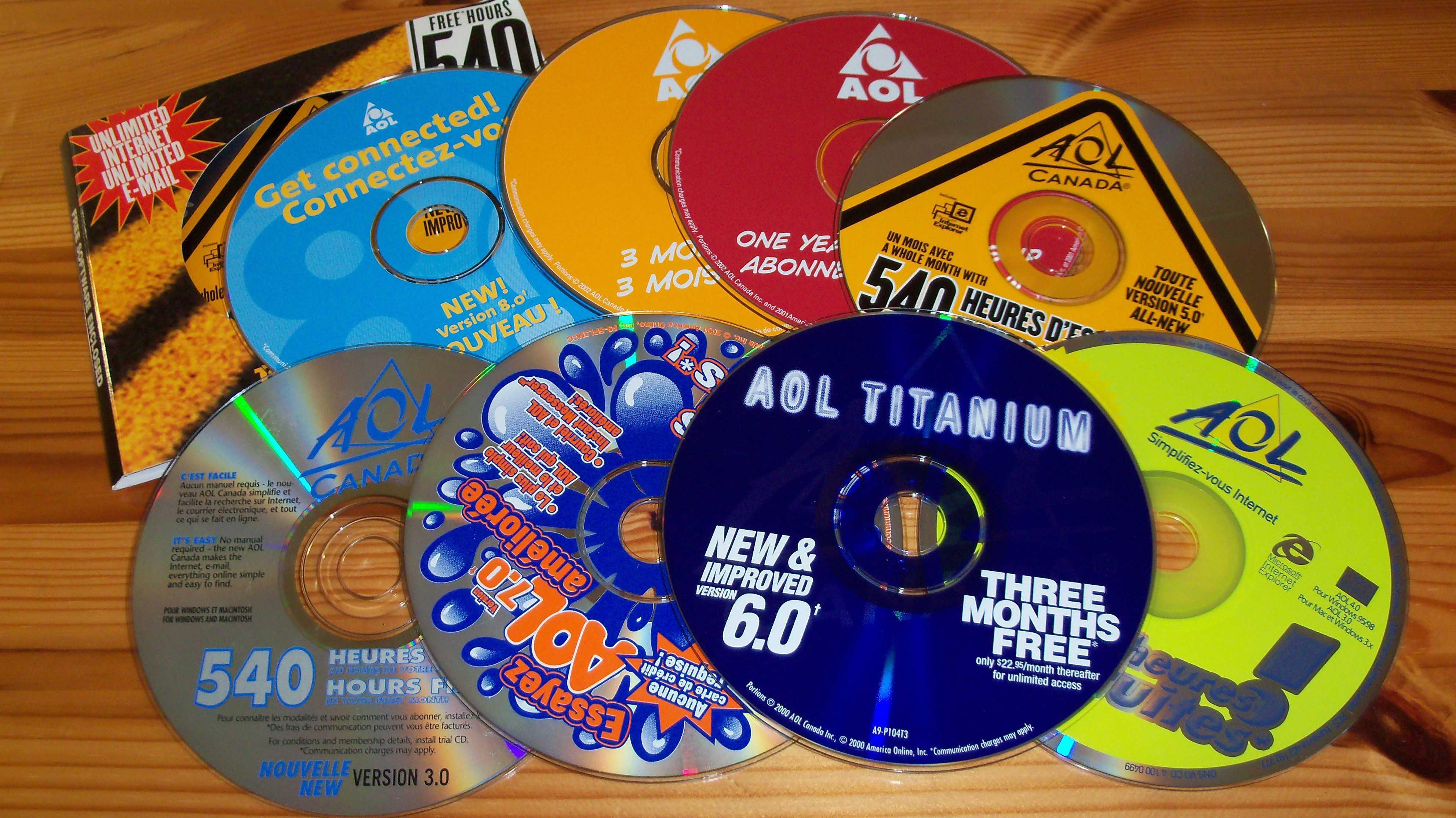 AOL CDs für die Modemeinwahl