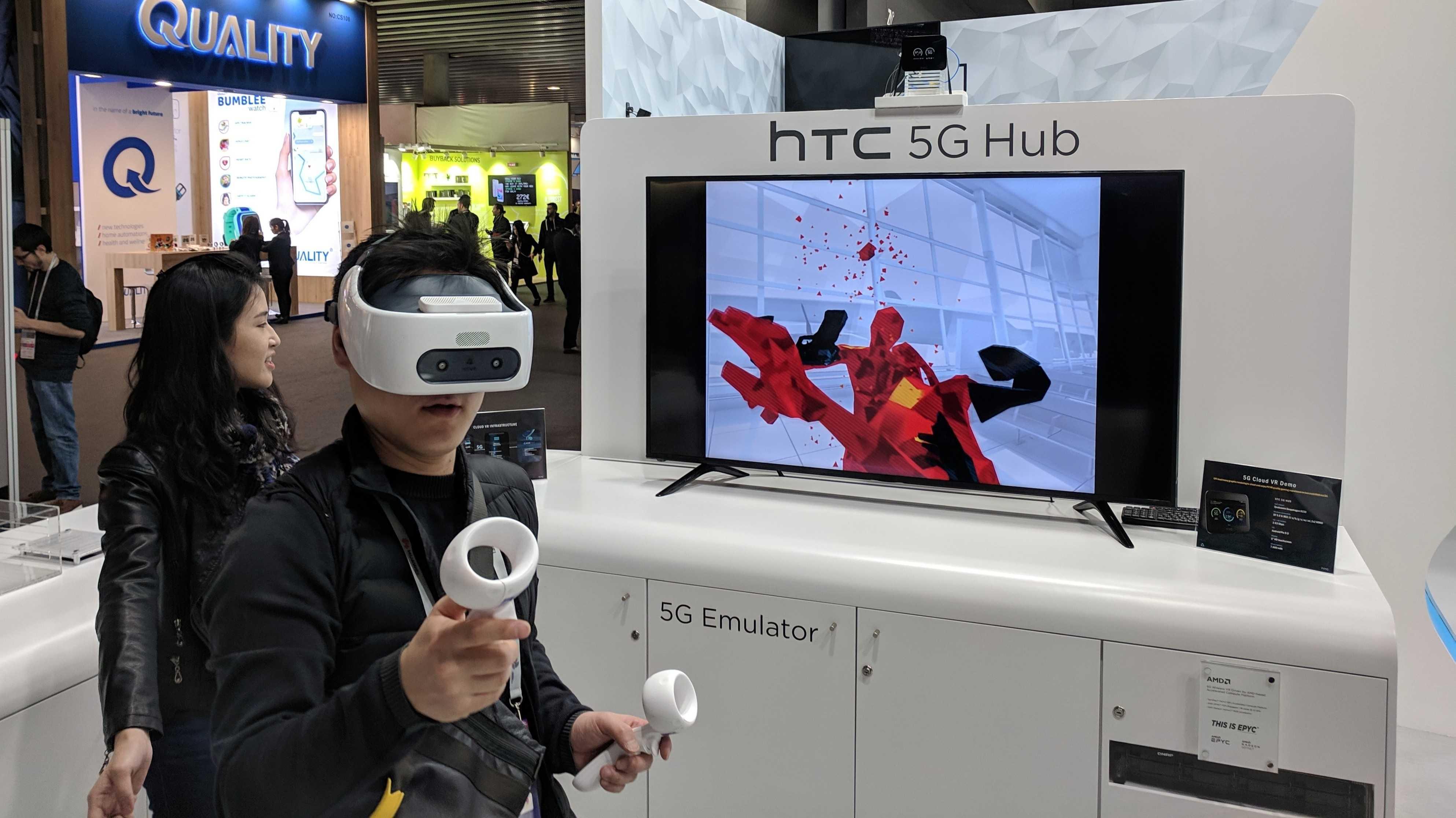 5G-Hub von HTC: Klein, leicht, akkubetrieben - und kann sogar VR-Cloud-Rendering