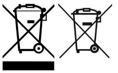 Batterien, Akkus sowieElektro- und Elektronikgeräte tragen dieses Symbol.