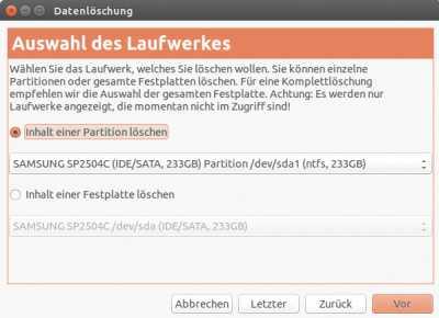 Das Linux-Tool dc3dd überschreibt Partitionen mit Zufallswerten oder Nullen – auf Wunsch auch mehrfach.