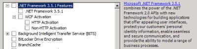 """Windows Server 2008 R2 bietet als Feature """".NET 3.5.1"""""""