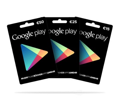 Play Store Geschenkkarten