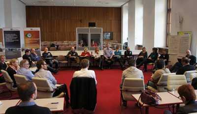 In einem von drei Workshops auf der Tagung diskutierten die IT-Beschaffer von Universitäten, Bundes- und Landesbehörden über Wege zum Einkauf fairer Hardware