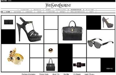 Homepage von YSL.