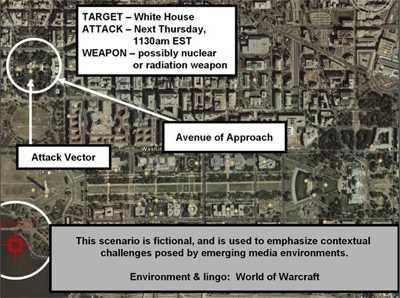 Die Karte mit dem Anschlagsziel in Washington war mit einer des Spiels überlegt worden.