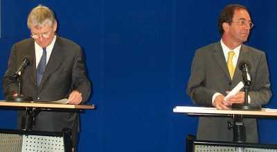 Otto Schily und Erwin Staudt
