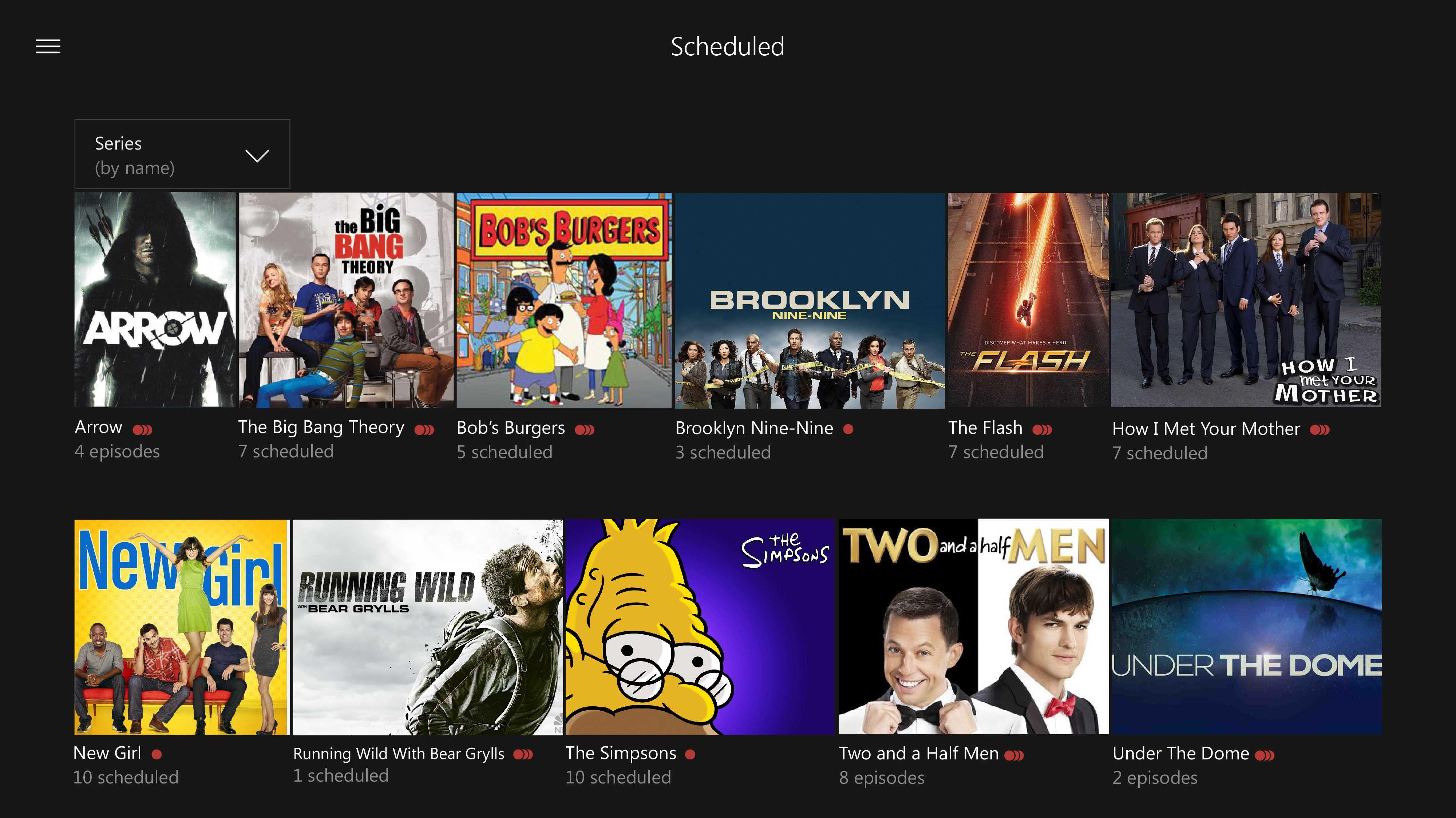 Xbox One: TV-Serien