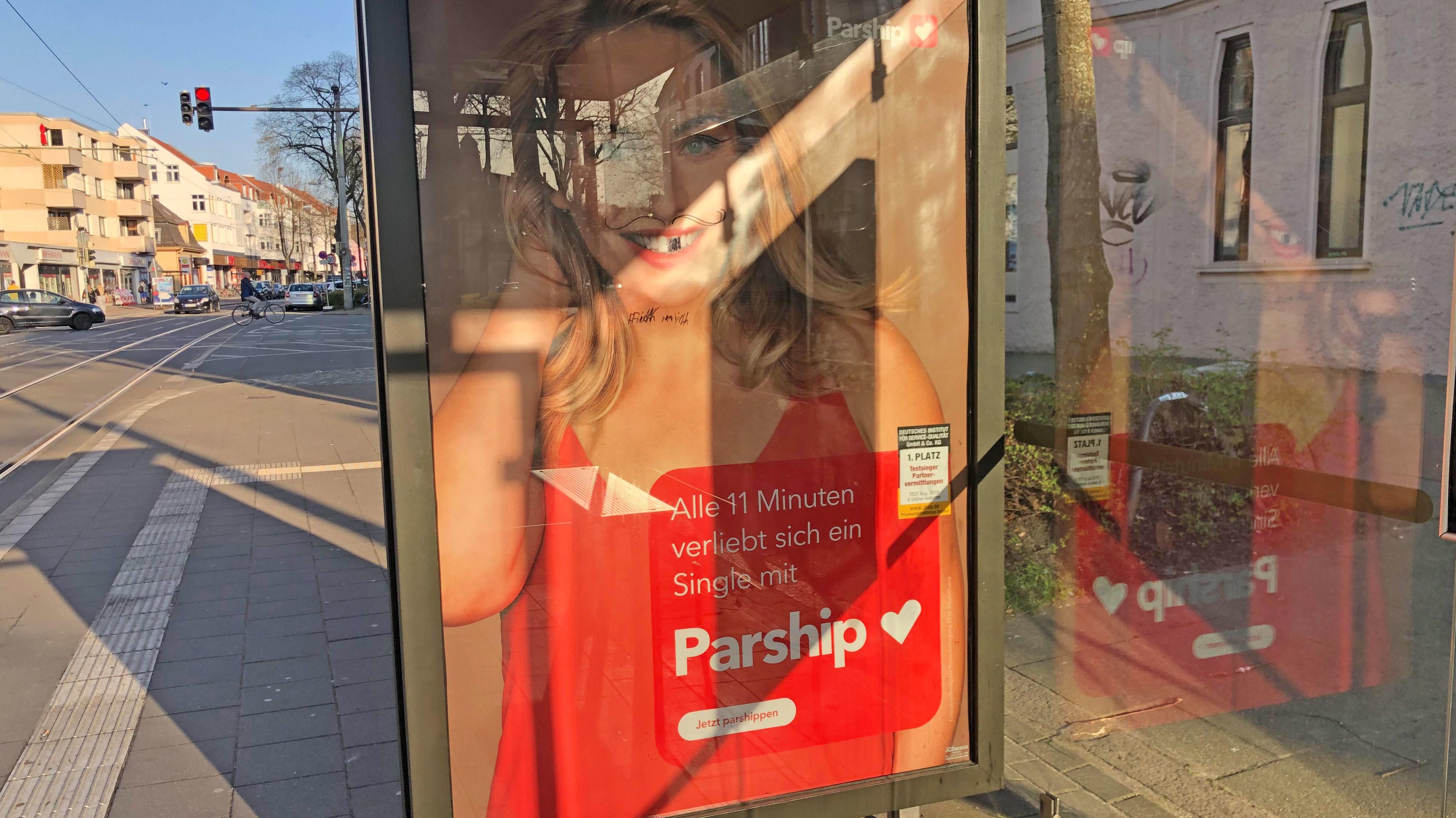Plakat parship werbung Parship werbung