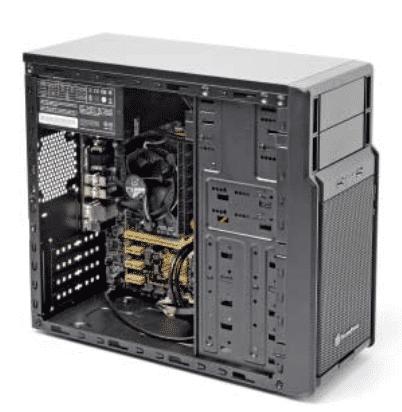 Ein flinker Rechner mit Solid-State Disk lässt sich auch für unter 400 Euro bauen.