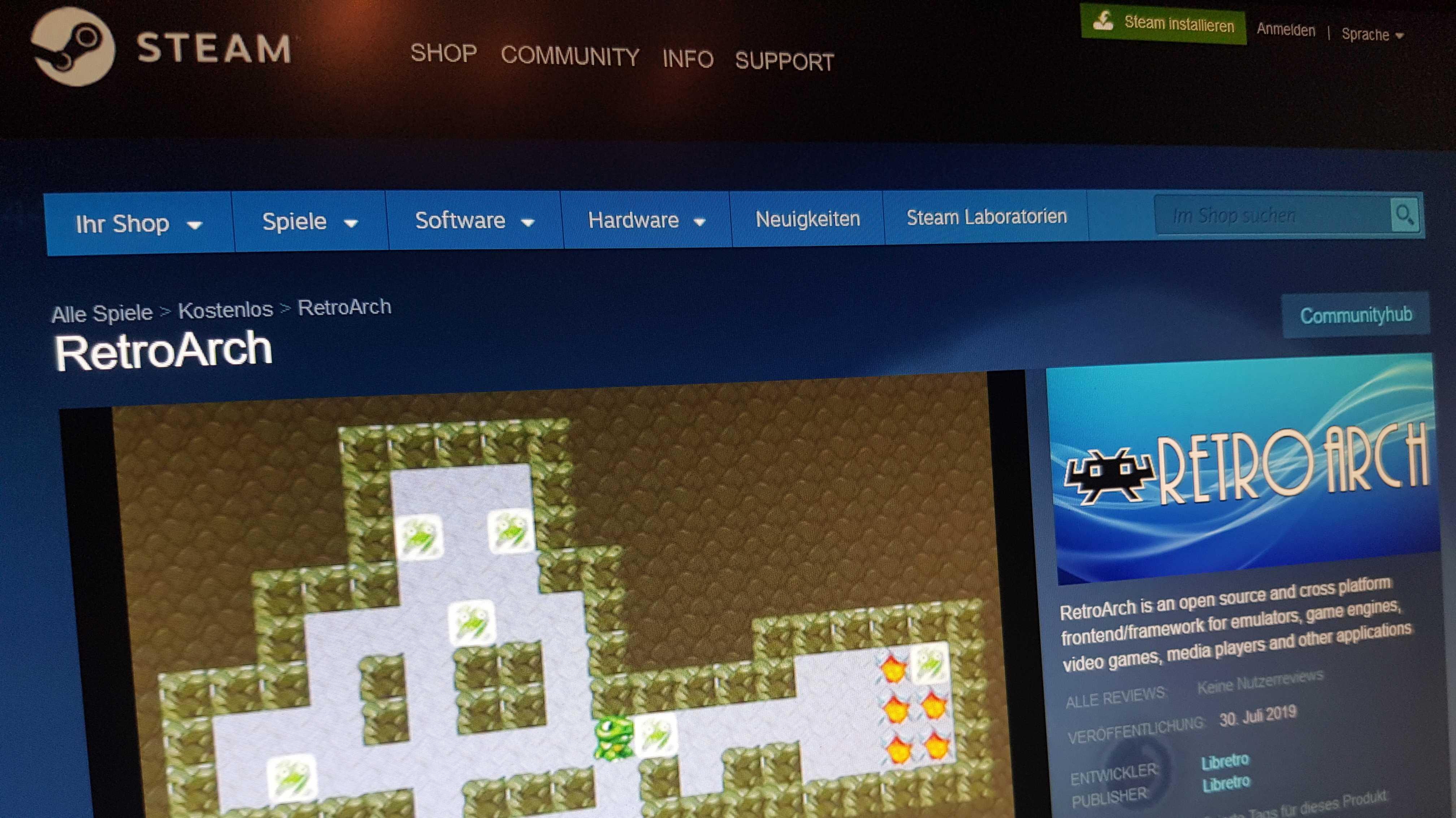 Emulator-Plattform RetroArch kommt zu Steam