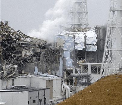 Zerstörte Reaktorgebäude in Fukuschima Daiichi
