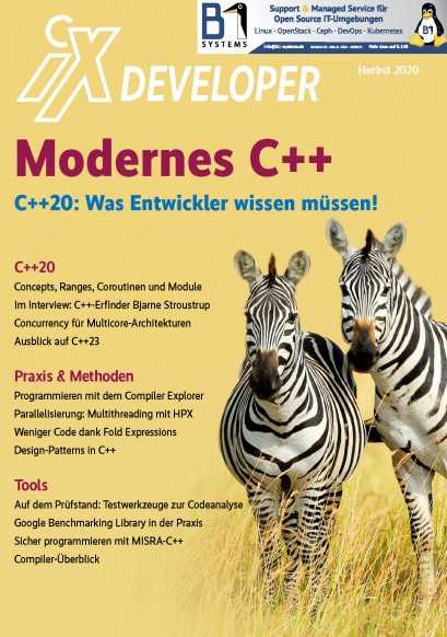 Ab Seite 100 findet sich ein Interview mit C++-Erfinder Bjarne Stroustrup.