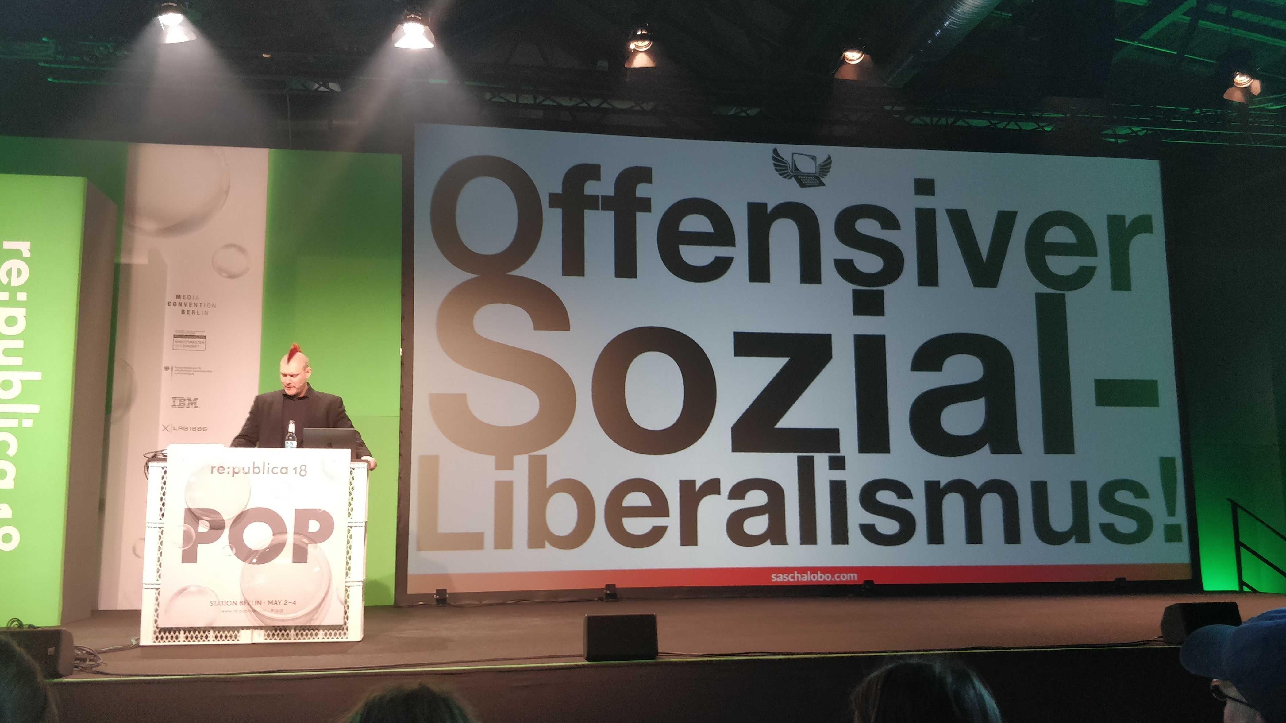 re:publica: Sascha Lobo plädiert für offensiven Sozial-Liberalismus