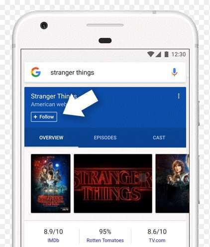 Serienfans können ihre Lieblingsshows direkt in den Google-Suchergebnissen abonnieren, damit sie den Start einer neuen Staffel nicht verpassen.