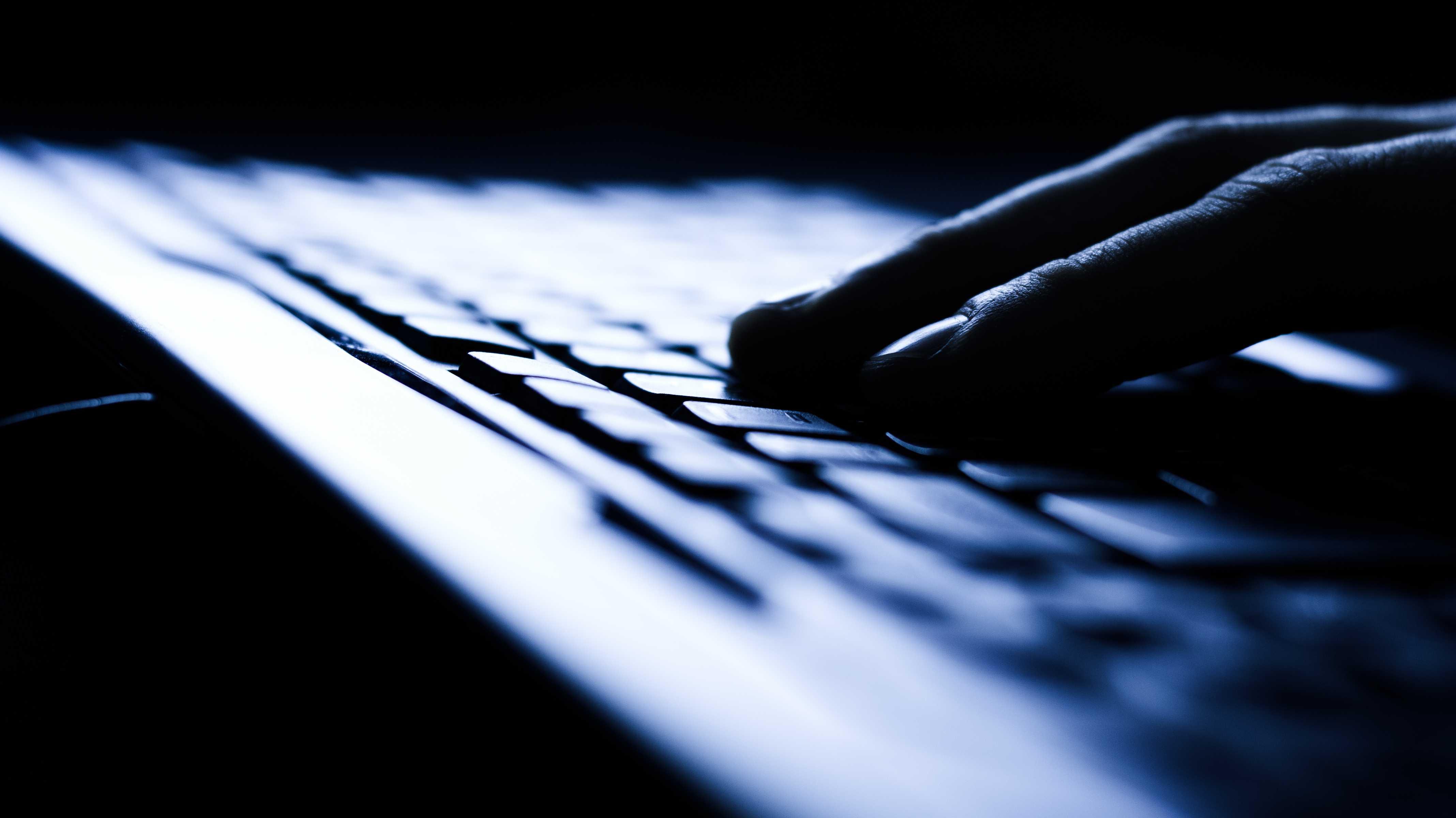 Tastatur im dunklen Raum