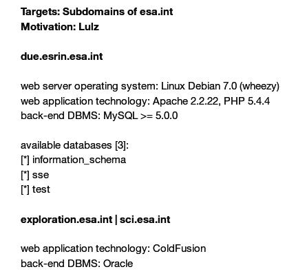 Die im Netz verteilten ESA-Datensätze; Motivation: LULZ