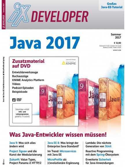 156 Seiten geballtes Know-how zum Status quo von Java