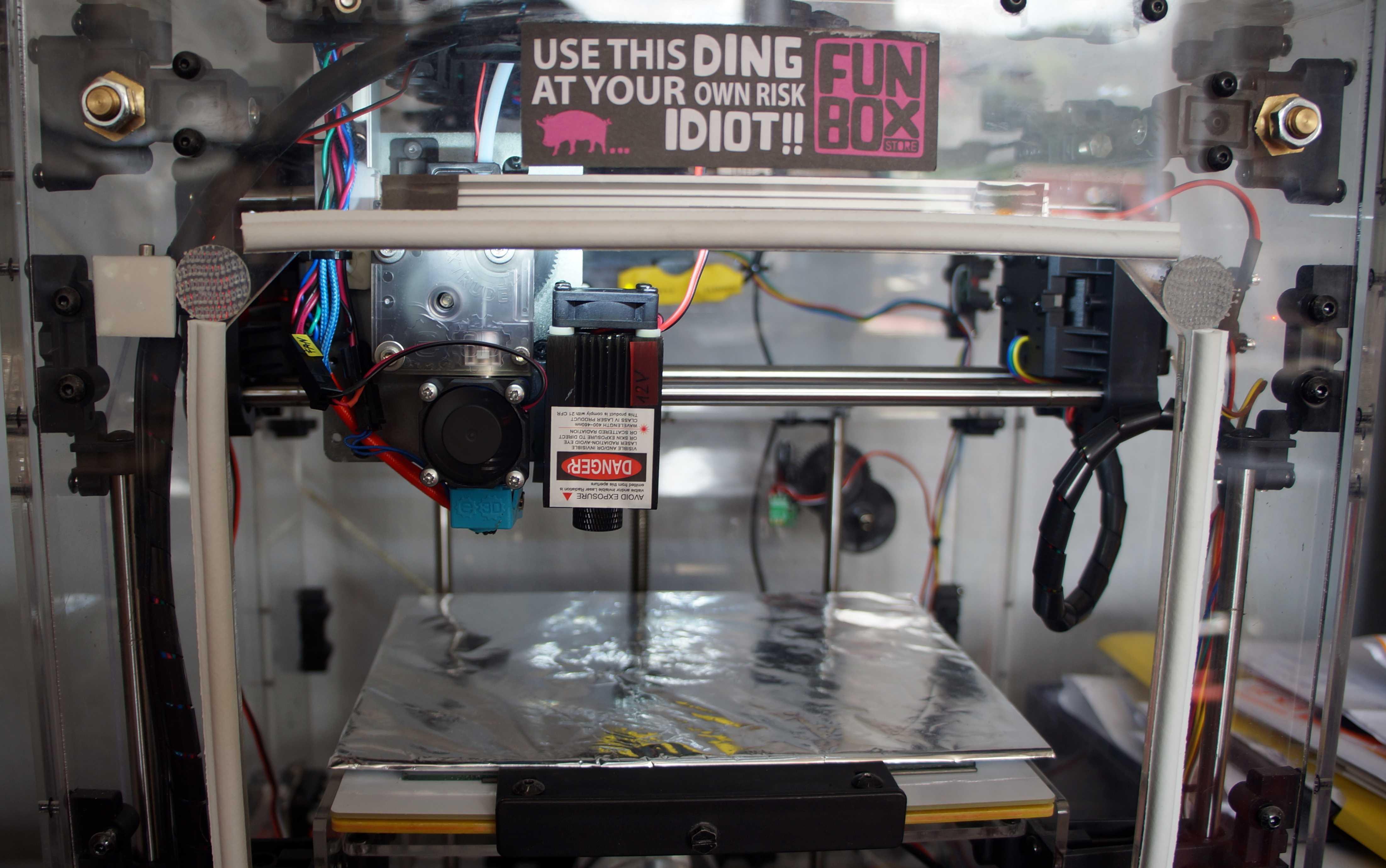 3D-Drucker mit Laserkopf
